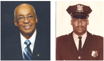 James E. Du Bose, pictured recently on left and in his Newark Police Department uniform on right, received NPD's Medal of Honor for heroically rescuing a group of children with his partner on Sept. 11, 1963.