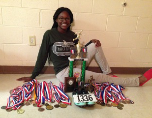 Infinity Hedrington, 16, moved into Harmony House with her parents in April and is pursuing her dream of running track in college.