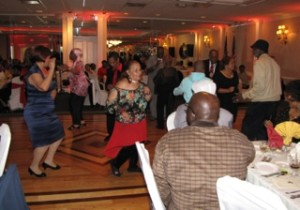NCC Commons Senior resident Alma River, center, and several other seniors danced the afternoon away.