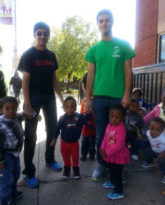Fourteen high school students from Montclair Kimberley Academy spent the day volunteering at Harmony House Early Learning Center as part of the school's Fall Service Day. Harmony House Early Learning Center, located at 278 South Orange Ave. in Newark, provides care and early education to children ages 3 months to 3 years old. To contact the school, call 973-242-3115.