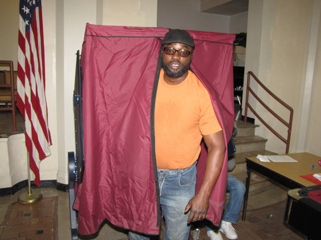 """If you don't vote, you aren't a citizen, I feel,"" said Anthony Chatman, 50, a resident of NCC Douglas Homes, after casting his vote."