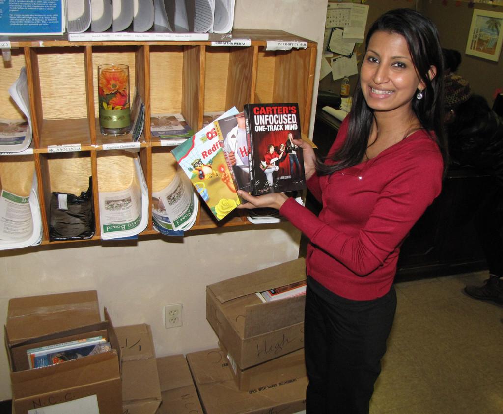 Jasminee and book donations