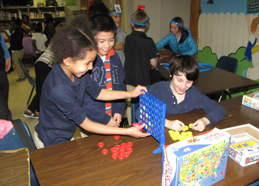 Pingry at Harmony House Connect Four game