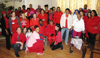 Residents and employees from around the New Community network proudly wore red to help raise awareness about heart disease on National Wear Red Day, February 6.