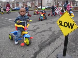 Trike-a-thon slow sign