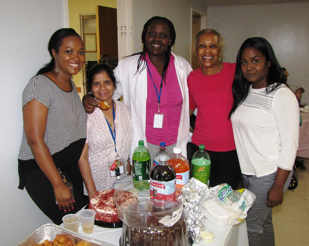 Adopt A Resident Extended Care staff provide potluck lunch