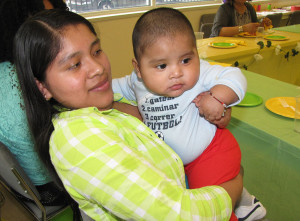 Jeronima Diaz, holding her son Jose, is a participant in New Start, which is a boarder baby prevention program that helps at risk mothers and their babies.