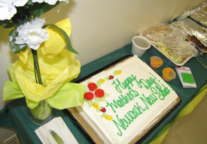 New Start staff prepared a luncheon complete with pasta, pizza, salad, sides and a cake.