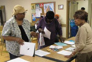 Josephine Harris, far right, outreach coordinator with the New Jersey Department of Human Services Division of Medical Assistance and Health Service, fielded questions and provided resources.