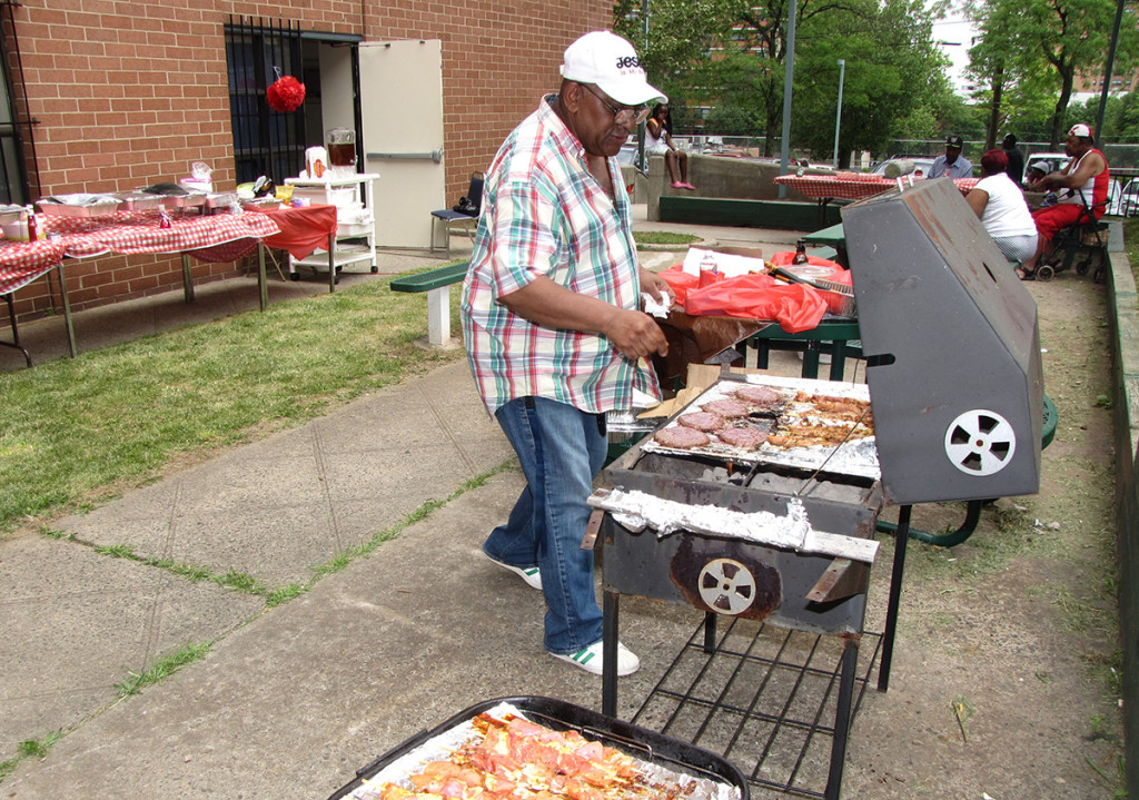 The laid-back afternoon gathering featured all the fixings: burgers, dogs, kabobs, sodas, chips, watermelon and an array of potluck items prepared by residents and staff.