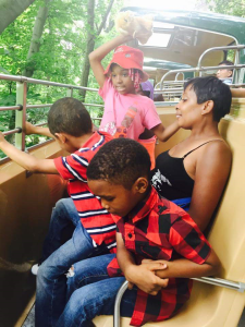 Bronx Zoo family on ride
