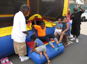 Harmony Day bouncy house