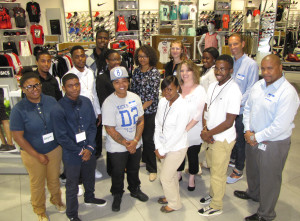A group of young people from Newark were selected this summer to intern at Kicks USA, an urban footwear and apparel retailer, to learn job skills.