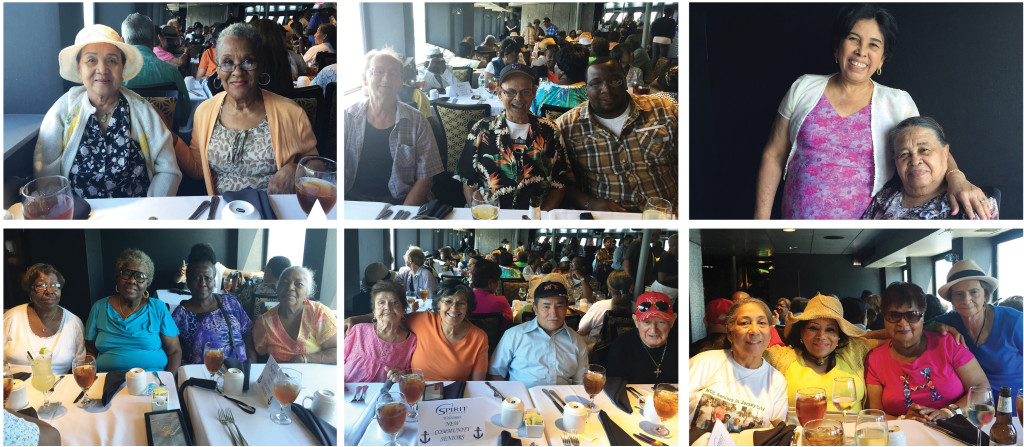 Residents of New Community Hudson Senior recently enjoyed an afternoon aboard the Spirit Cruise, which tours the Hudson River. Accompanied by family and friends, the residents of Hudson Senior, NCC's senior and disabled adult residence in Jersey City, departed from Weehawken to take in the sights and have lunch aboard the Spirit Cruise. The outing was free for seniors and sponsored by Hudson County. Photos courtesy of Tao Ho.