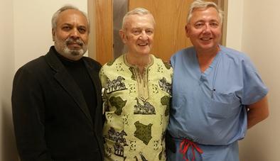 Monsignor and Dr. Najim Wasty and Dr. Mark Granata