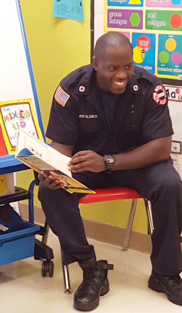 CHELC firefighter Najiy Davis