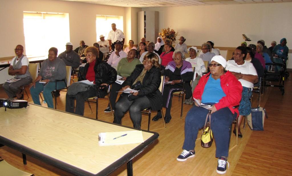 Orange Senior fire prevention crowd