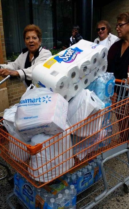 Walmart trip Douglas Homes seniors basics