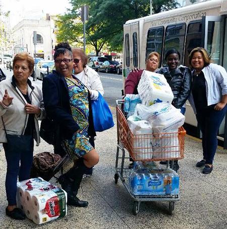 Walmart trip Douglas Homes seniors bus