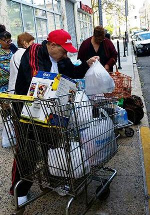 Walmart trip Douglas Homes seniors carts