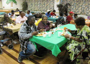 Thanksgiving Commons Senior tables