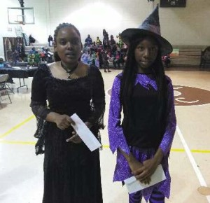 Youth Services Halloween two girls
