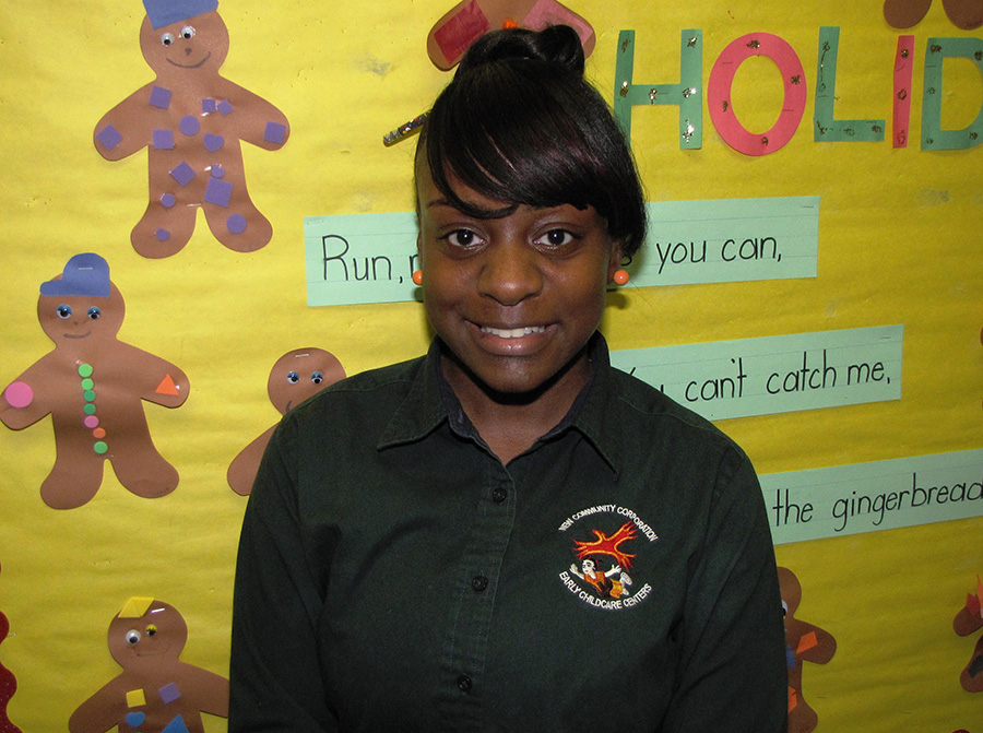 Pre-kindergarten teacher Chanel Hollis is known for her gentle demeanor.