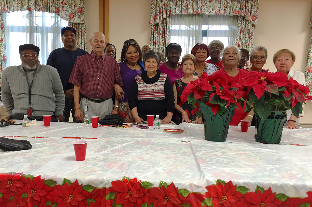 Residents of New Community Hudson Senior, located in Jersey City, enjoyed a holiday party filled with food, music and merriment. The luncheon was catered by Rita and Joe's Italian Restaurant in Jersey City.