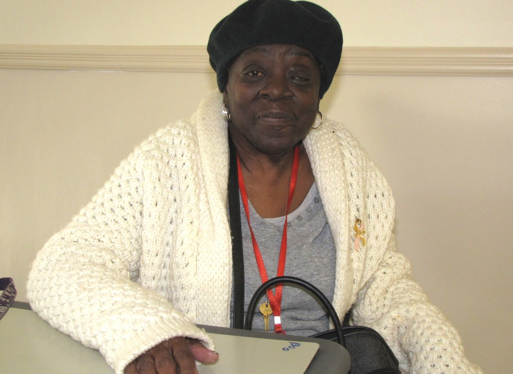 Martha Brown is a floor captain at New Community Manor Senior.