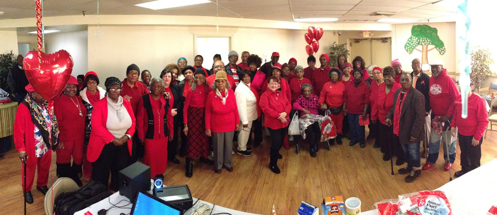 Residents and staff of NCC participated in National Wear Red Day to raise awareness for heart health.