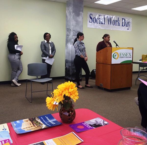 Social Services podium