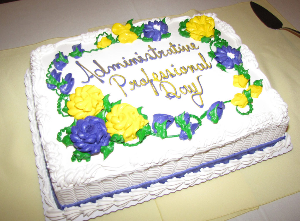 A sweet treat topped off the Administrative Professional Appreciation Luncheon hosted by the Human Resources department.