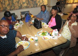 Residents enjoyed a complimentary healthy lunch provided by Guardy's Pharmacy in Newark.