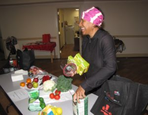 Delilah Winder, who goes by Chef Delilah, prepared a healthy and quick dessert at New Community Commons Senior.