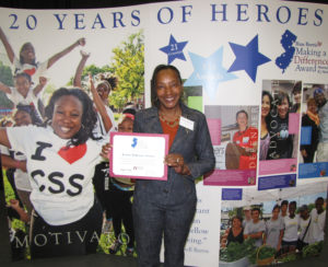 JoAnn Williams-Swiney, director of the New Community Family Resource Success Center, was honored as a nominee for the Russ Berrie Making A Difference Award.
