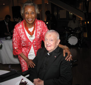 Monsignor's 80th birthday Madge Wilson and Msgr