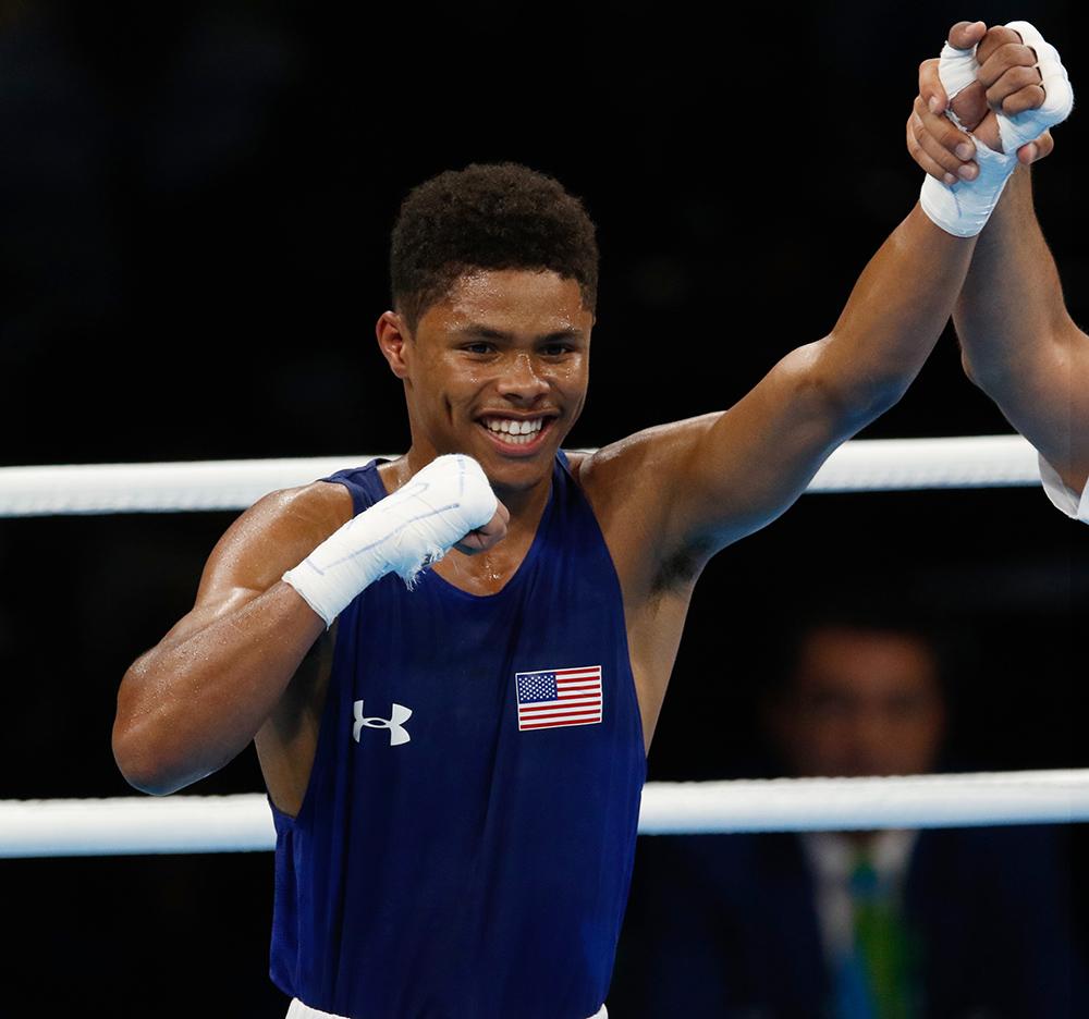 Rio de Janeiro - Boxeador brasileiro Robenilson de Jesus sofre derrota para o norte-americano Shakuer Stevenson na categoroa até 56kg. (Fernando Frazão/Agência Brasil)