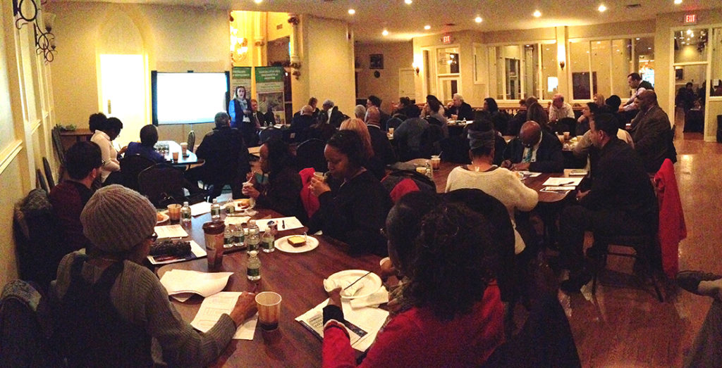 More than 70 people from local agencies attended the forum held at St. Joseph Plaza in Newark.