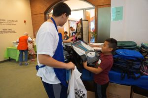 Each student got to pick out a backpack at the Back 2 School Store.