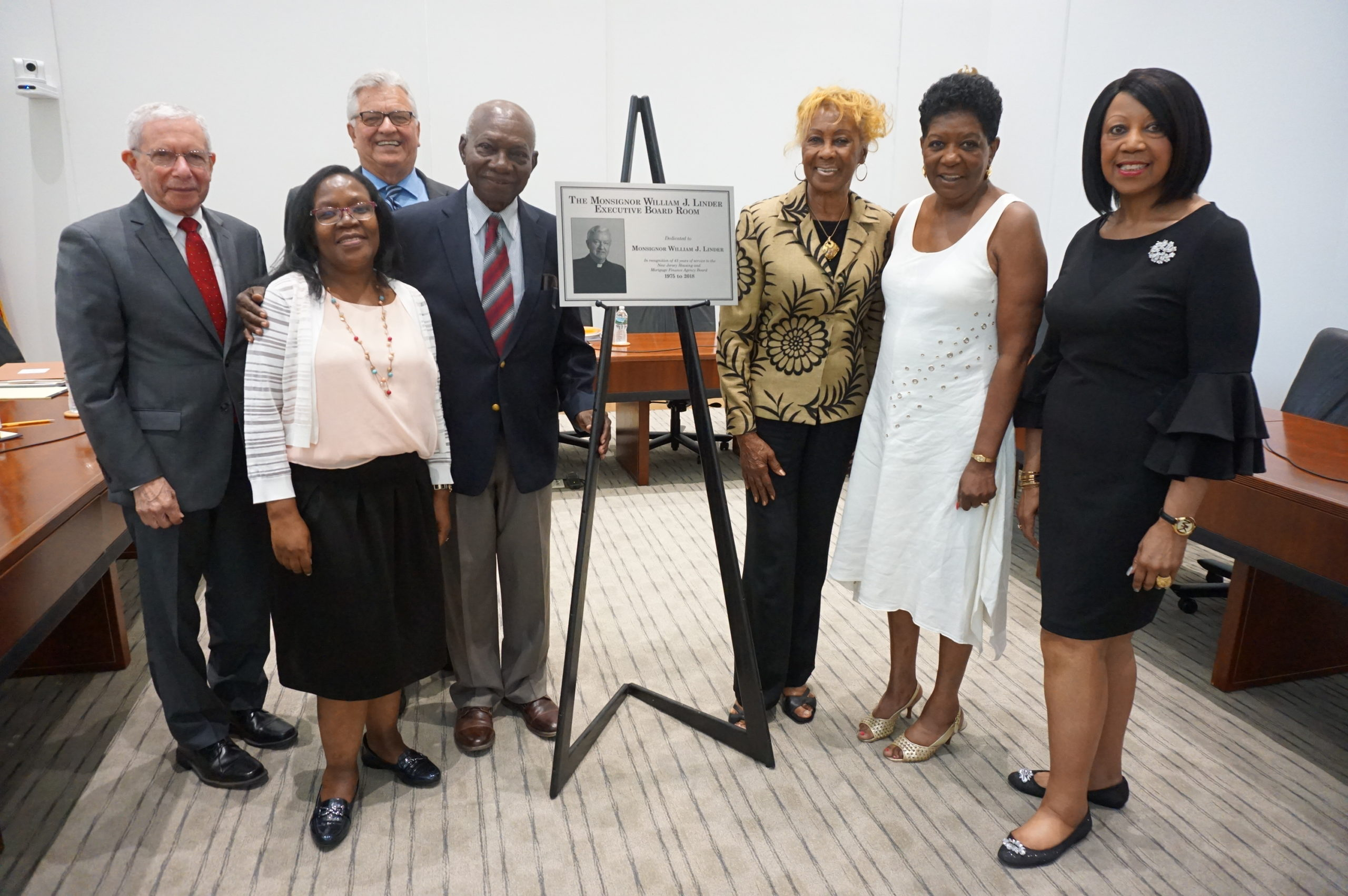 NJHMFA Dedicates Board Room To NCC Founder Monsignor William J. Linder