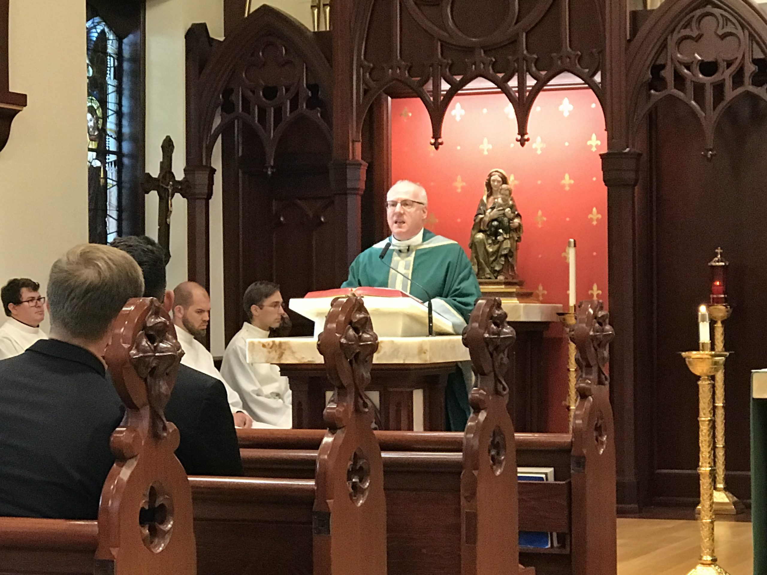 Immaculate Conception Seminary Mass Celebrates NCC Founder And Queen Of Angels Church