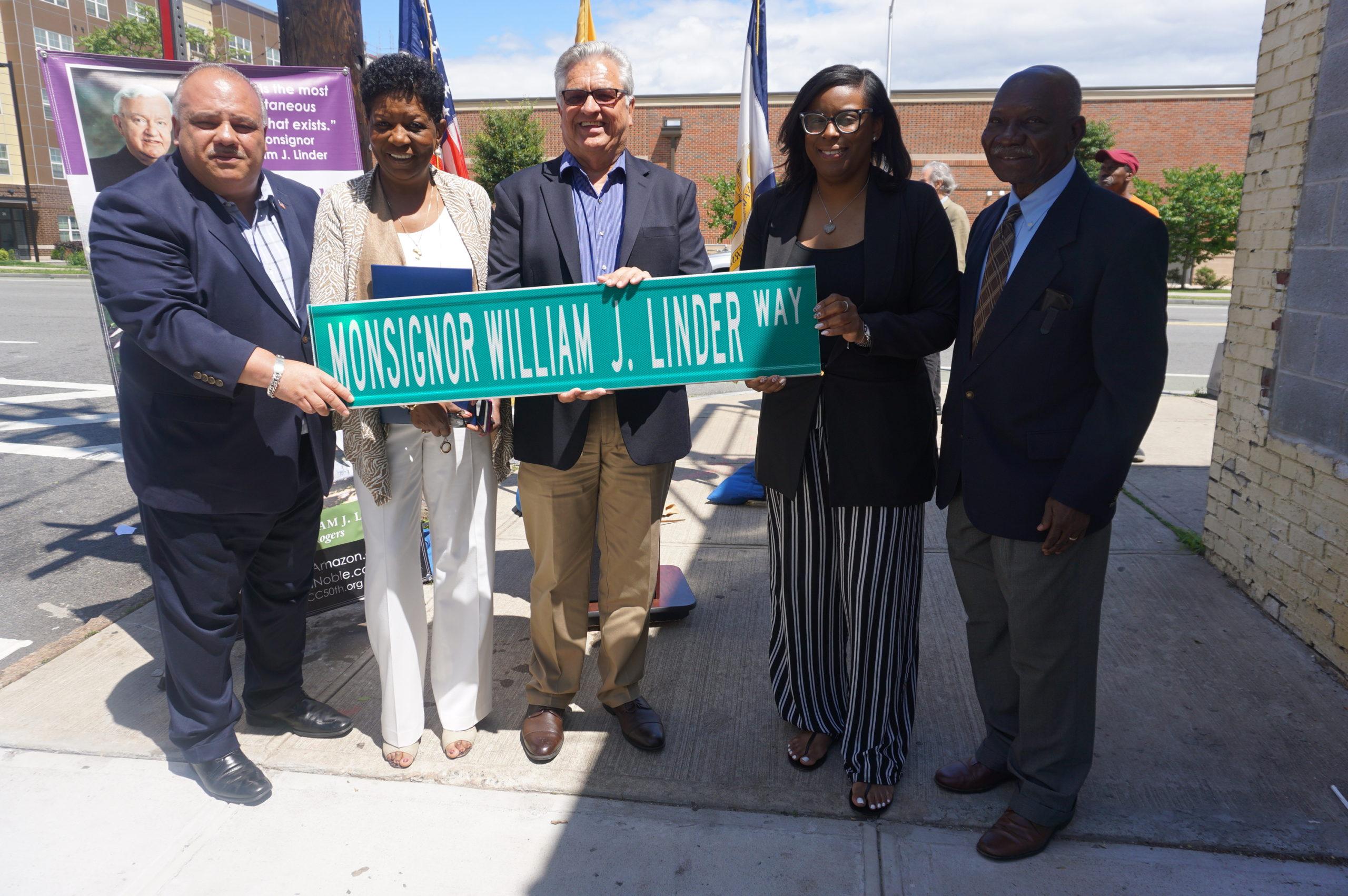 Newark Dedicates 14th Avenue at Jones Street to Late NCC Founder Monsignor Linder