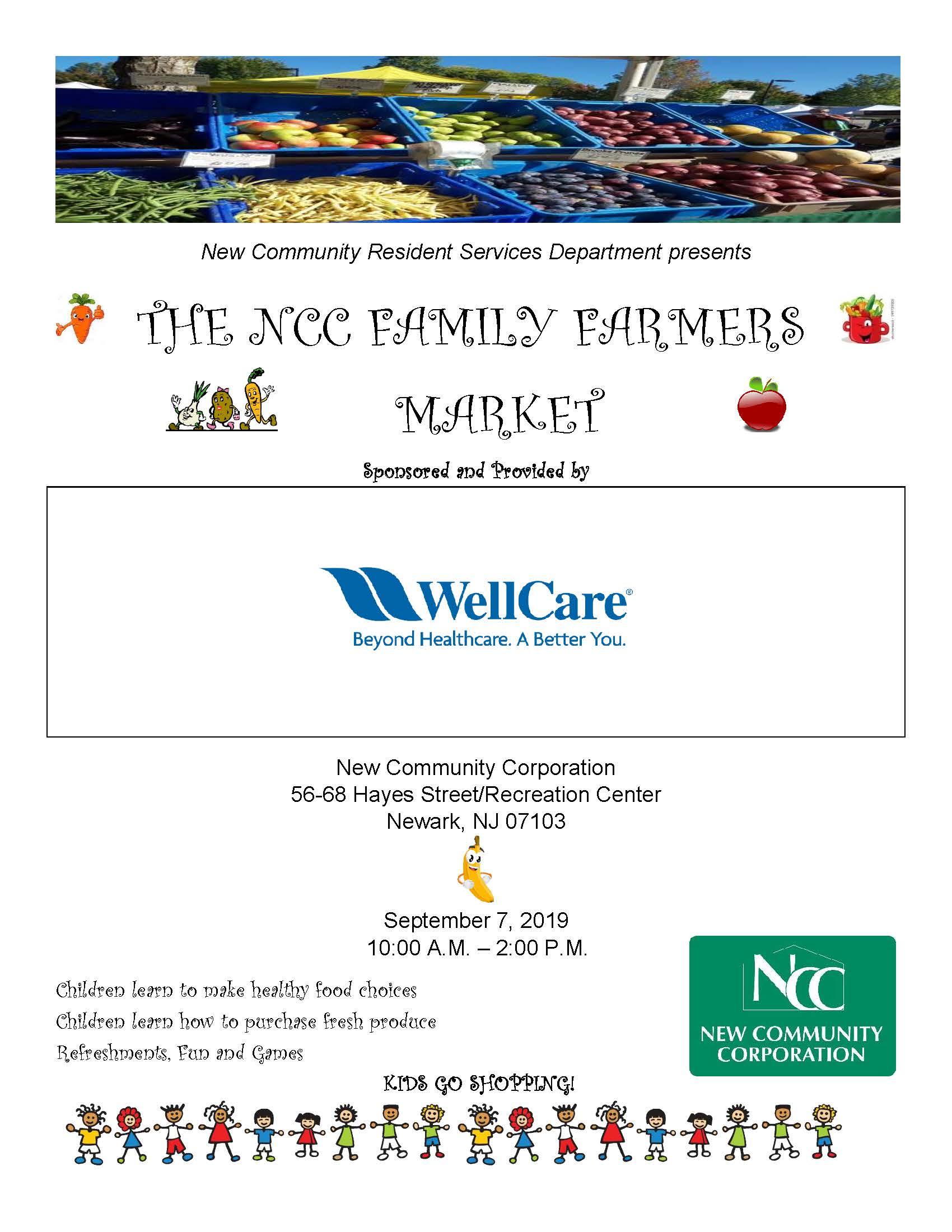NCC Family Farmers Market Set for Sept. 7