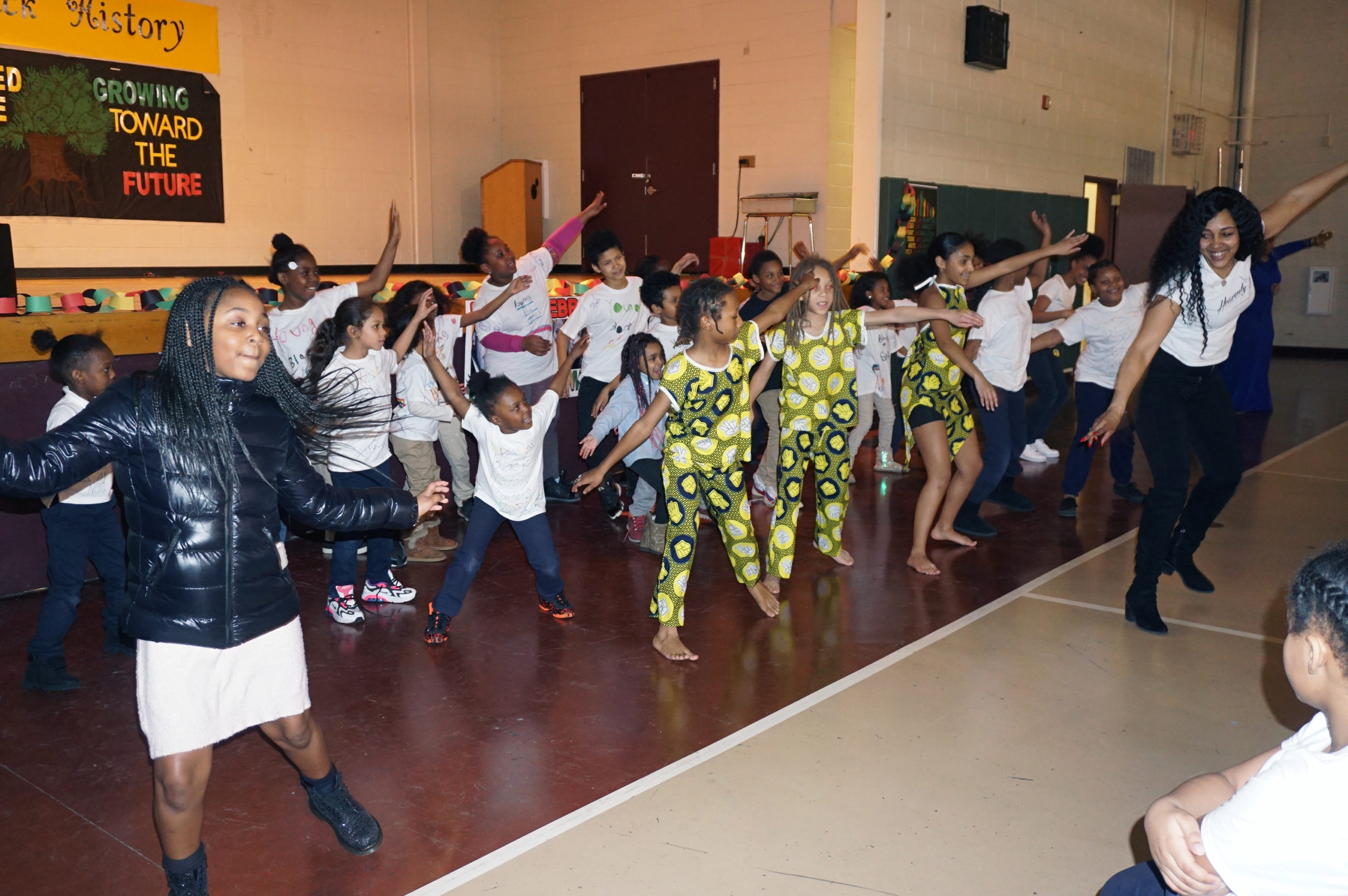 After School Black History Program NCC Kids Dancing with Heavenly J Dance Studio
