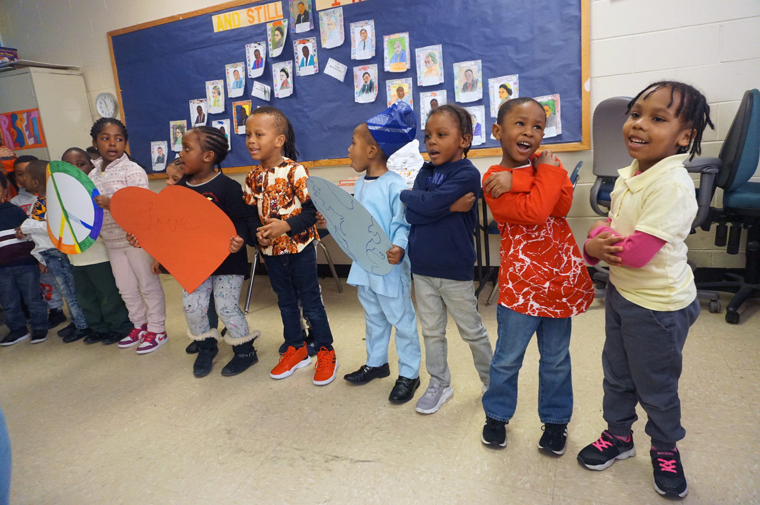 HHELC Cultural Diversity Day 2020 Pre K Class Performing Song