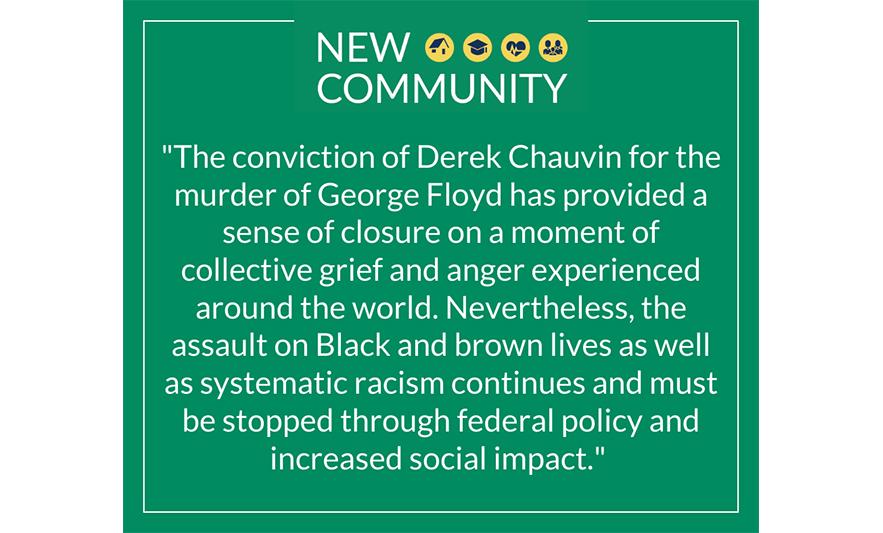New Community Statement on Derek Chauvin Verdict