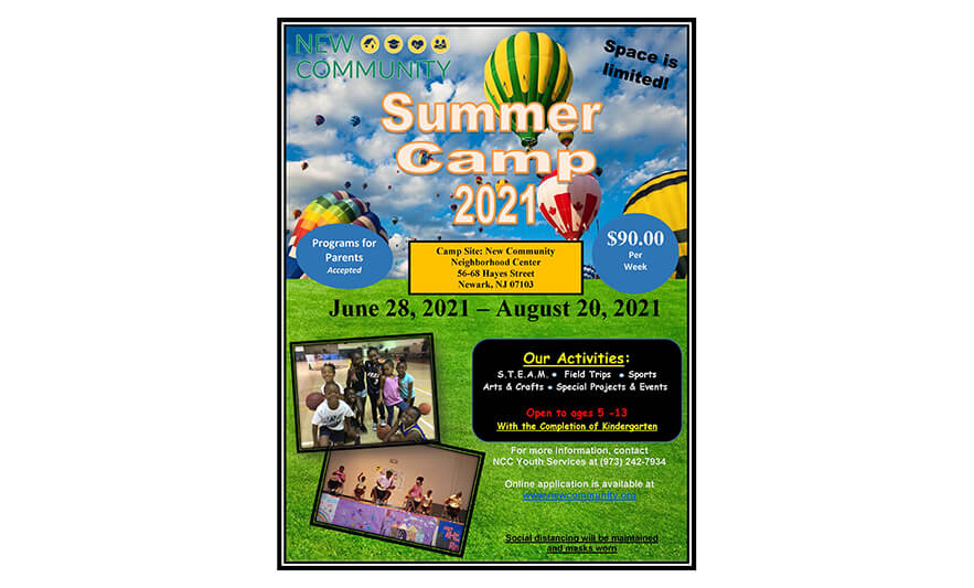 Register Now for New Community In-Person Summer Camp 2021