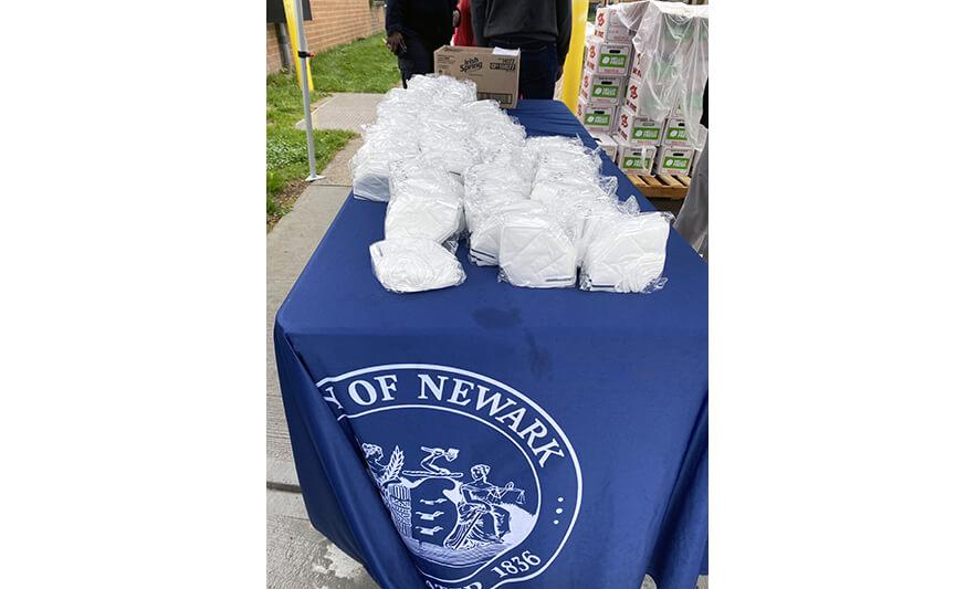 Mayor's Food Distribution 5-5-2021 City of Newark Masks for Web