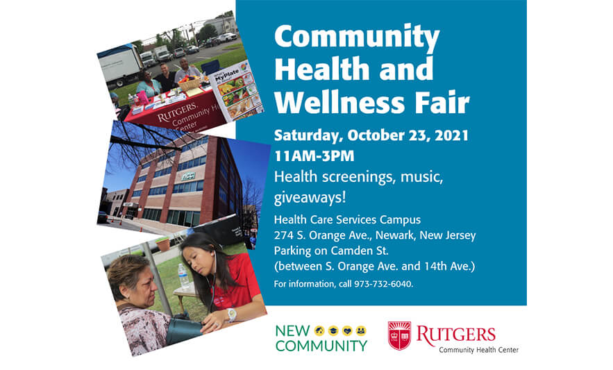 Read more about the article New Community and Rutgers Community Health Center to Host Community Health and Wellness Fair