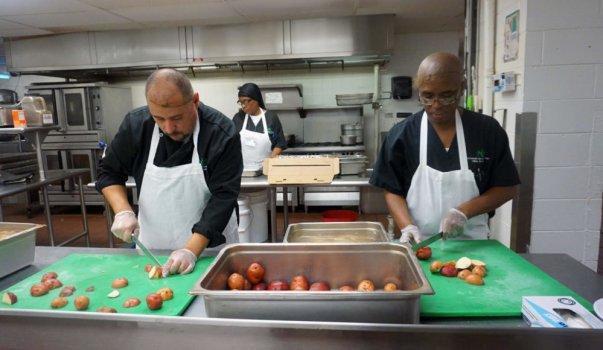 NCCTI Culinary Students Cutting Potatoes 8-21-19